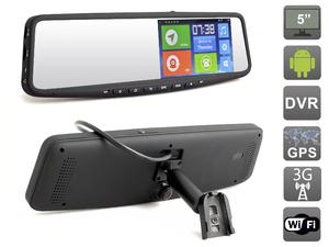 Зеркало заднего вида с навигатором и видеорегистратором на ОС Android AVEL Electronics AVS0588DVR с функцией телеметрии