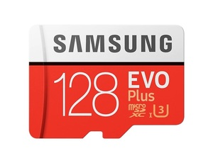 Карта памяти Samsung microSDXC EVO Plus 128Gb U3 90-100MBs