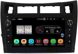 Штатная магнитола Toyota Yaris II (XP90) 2005-2010, Vitz II (XP90) 2005-2010 (черная) LeTrun BPX609-9122 на Android 10 (4/64, DSP, IPS, с голосовым ассистентом, с крутилками)