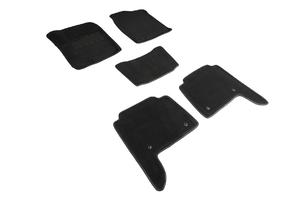 Ворсовые 3D коврики в салон Seintex для Infiniti QX80 2013-н.в. (черные)