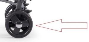 Задние колеса и тормоз к коляске Chicco LiteWay, тёмносерый