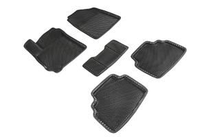 Коврики EVA 3D ромб Seintex для KIA Seltos 2019 (черные, 95483)
