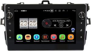 Штатная магнитола Toyota Corolla X 2006-2013 (черная, без воздуховодов) LeTrun BPX609-9094 на Android 10 (4/64, DSP, IPS, с голосовым ассистентом, с крутилками)