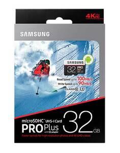 Карта памяти Samsung microSDHC PRO Plus 32Gb UHS-3 90-100MBs