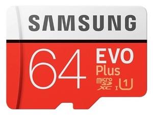 Карта памяти Samsung microSDXC EVO Plus 64Gb UHS-1 20-100MBs