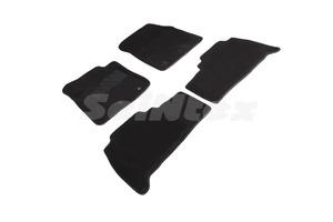 Ворсовые 3D коврики в салон Seintex для Toyota Land Cruiser 200 2012-н.в. (черные)
