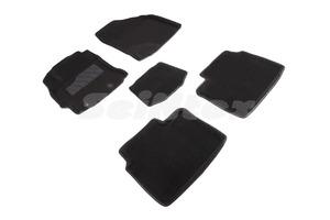 Ворсовые 3D коврики в салон Seintex для Toyota Corolla XII (E160,170) 2013-2018 (черные)
