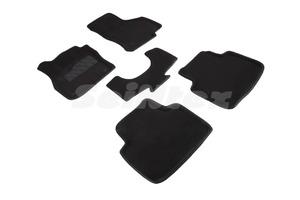 Ворсовые 3D коврики в салон Seintex для Skoda Superb III 2015-н.в. (черные)