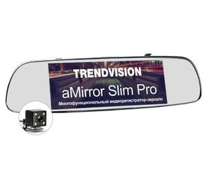 Зеркало с регистратором и GPS навигатором TrendVision aMirror Slim Pro