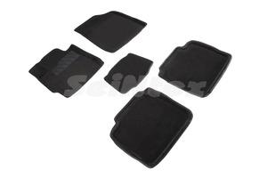 Ворсовые 3D коврики в салон Seintex для Toyota Camry VI 2006-2012 (черные)