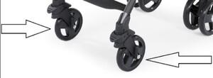 Передние колеса к коляске Chicco LiteWay серые