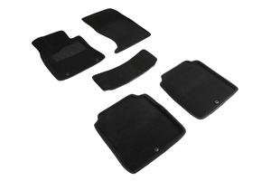 Ворсовые 3D коврики в салон Seintex для HYUNDAI Genesis G90 I rest 2020-н.в. (черные)