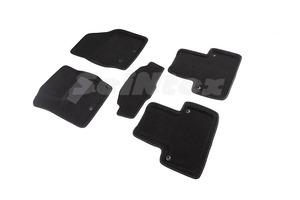 Ворсовые 3D коврики в салон Seintex для Volvo XC-90 2002-2015 (черные)
