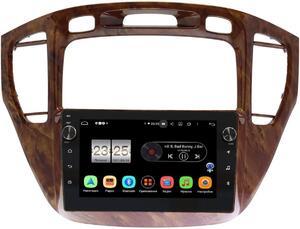 Штатная магнитола LeTrun BPX409-9293 для Toyota Highlander (U20) 2001-2007 (орех, для авто без монитора) на Android 10 (4/32, DSP, IPS, с голосовым ассистентом, с крутилками)