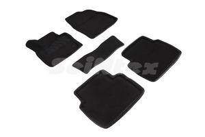Ворсовые 3D коврики в салон Seintex для Mazda CX5 II 2017-н.в. (черные)