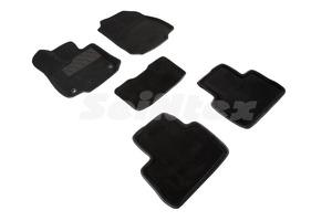 Ворсовые 3D коврики в салон Seintex для Toyota RAV4 V(XA50) АКПП 2019-н.в. (черные)
