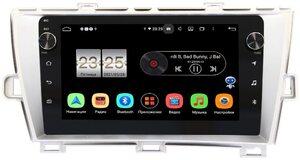 Штатная магнитола LeTrun BPX409-9211 для Toyota Prius III (XW30) 2009-2015 (левый руль) серебро на Android 10 (4/32, DSP, IPS, с голосовым ассистентом, с крутилками)