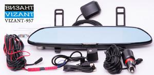 Накладка на зеркало с регистратором и GPS навигатором Vizant 957NK Android