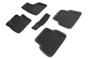 Коврики EVA 3D ромб Seintex для Volkswagen Tiguan 2010-2017 (черные, 95362)