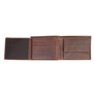 Бумажник Klondike Dawson, коричневый, 12х2х9,5 см