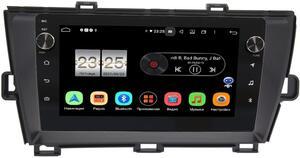 Штатная магнитола LeTrun BPX409-195 для Toyota Prius III (XW30) 2009-2015 (правый руль) на Android 10 (4/32, DSP, IPS, с голосовым ассистентом, с крутилками)