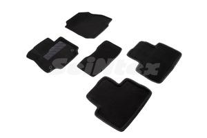 Ворсовые 3D коврики в салон Seintex для Toyota RAV4 V(XA50) МКПП 2019-н.в. (черные)