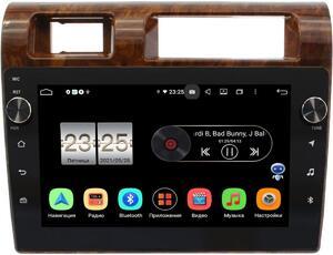Штатная магнитола Toyota LC 70 2007-2021 (дерево) LeTrun BPX609-1121 на Android 10 (4/64, DSP, IPS, с голосовым ассистентом, с крутилками)