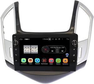 Штатная магнитола LeTrun BPX609-9265 для Chevrolet Cruze I 2012-2015 (черно-серый глянец) на Android 10 (4/64, DSP, IPS, с голосовым ассистентом, с крутилками)