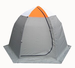 Палатка для зимней рыбалки Митек Омуль-3 (оранжевый/белый-серый)