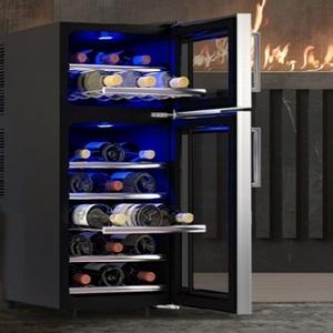 Двухзонный винный шкаф работающий без шума и вибрации