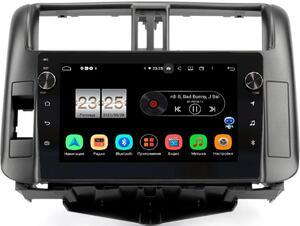 Штатная магнитола LeTrun BPX409-FC526 для Toyota LC Prado 150 2009-2013 (для авто с усилителем) (темно-серая) на Android 10 (4/32, DSP, IPS, с голосовым ассистентом, с крутилками)