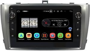 Штатная магнитола LeTrun BPX409-3017 для Toyota Avensis III 2009-2015 (серебро) на Android 10 (4/32, DSP, IPS, с голосовым ассистентом, с крутилками)