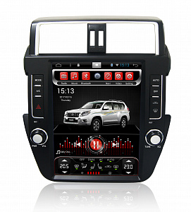 Штатная магнитола CARMEDIA SP-12104 Tesla-Style для Land Cruiser Prado 150 2013-2016 Android 7.1.2