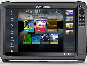 "Lowrance HDS-12 Gen3 ROW with StructureScan + HST-WSBL  (000-11801-002 - 12"")"