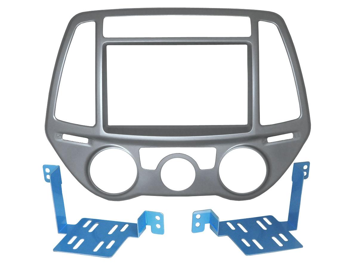 Переходная рамка Incar RHY-N52 для Hyundai i-20 (крепеж)Переходные рамки<br>Incar RHY-N52. Переходная рамка для установки магнитолы 2din взамен оригинальной штатной в автомобиль HYUNDAI i-20 с 2012 по 2014 года выпуска с ручным управление кондиционером.<br>