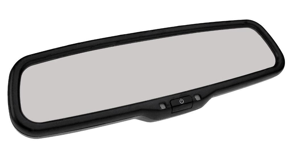 """Зеркало заднего вида с монитором 4.3"""" Redpower M43 NEW крепление 4 (Ford, новые Peugeot, Citroen без датчика дождя)"""