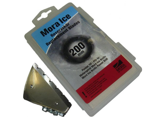 Ножи  для шнека мотоледобура MORA (зубчатые, 200 мм)